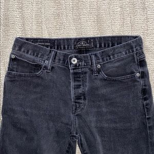 Lucky Brand men's authentic skinny jeans in black